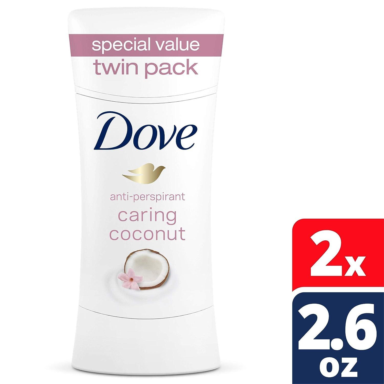 Dove Deodorant 2.6 Ounce Adv Care Anti-Perspirant Coconut (76ml) (2 Pack)