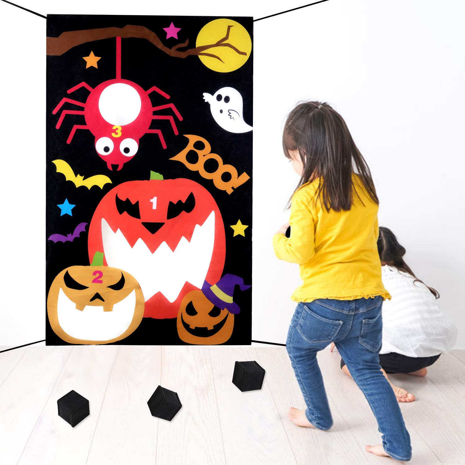 Legendog Halloween Bean Bag Toss Game with 3 Bean Bags,Fashion Halloween Toss Games for Adults and Kids, Halloween Party Decoration