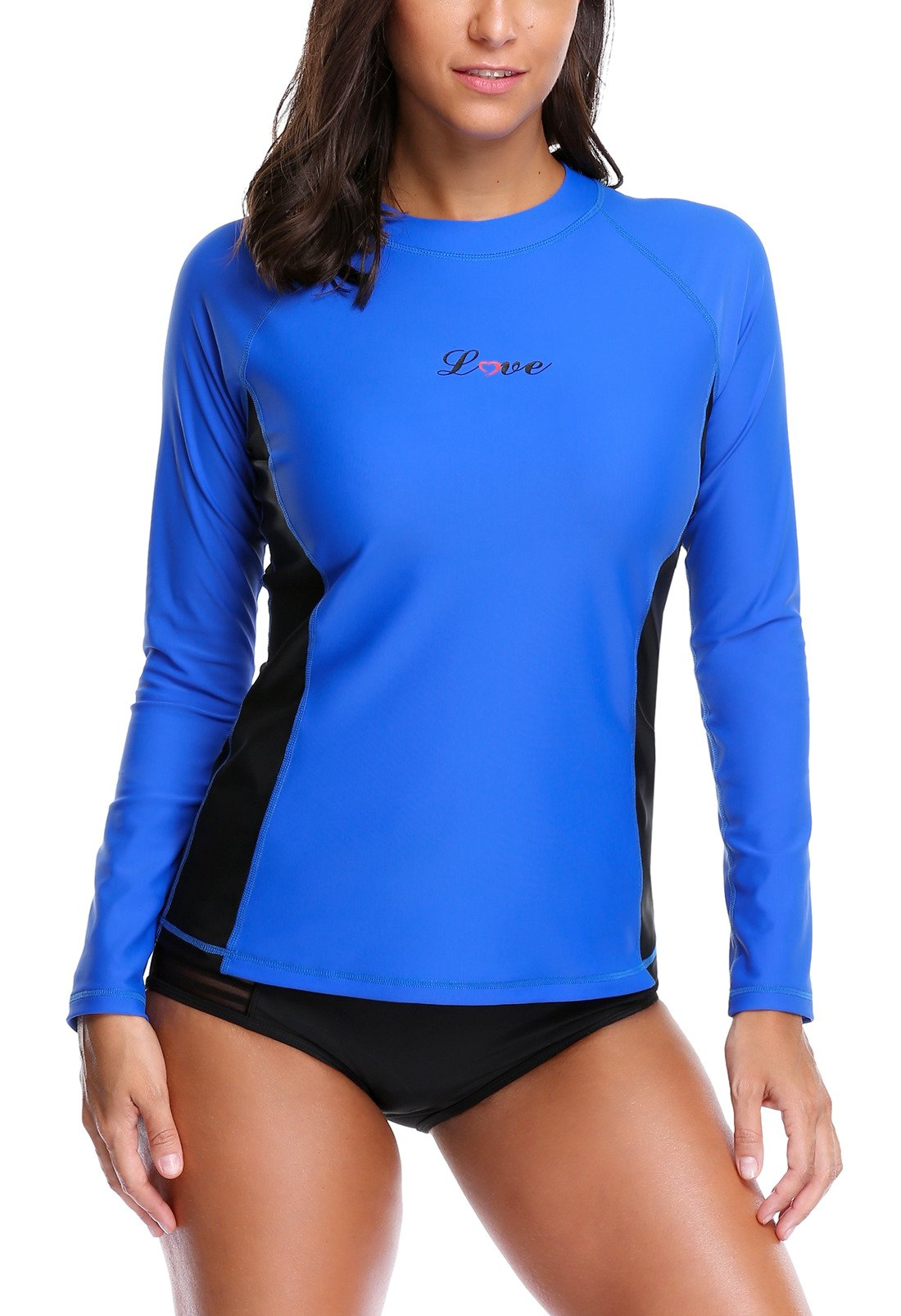 ALove Surf Shirt Rash Guard UPF 50 Athletic Top Womens Surf Rashguard Long Sleeve Medium by ALove (Image #1)