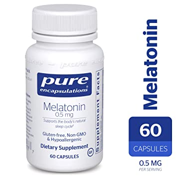 Pure Encapsulations - Melatonin 0.5 mg - Hypoallergenic Supplement Supports The Bodys Natural Sleep Cycle*