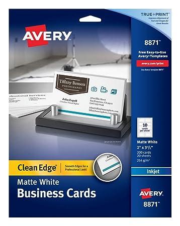 Amazon.com: Avery - Tarjetas de negocios de doble cara para ...