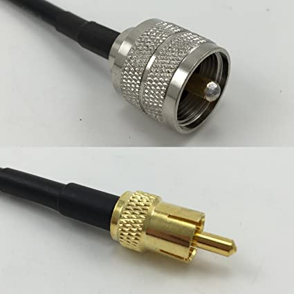 3 feet RG58 PL259 UHF Male to RCA MALE Pigtail Jumper RF coaxial cable 50ohm High