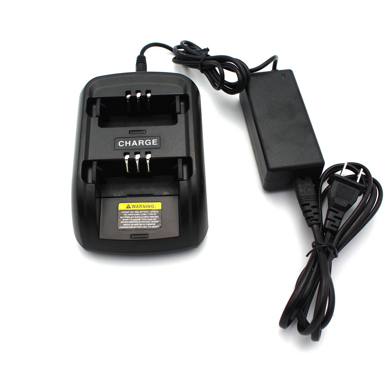 GoodQbuy Ni-MH Ni-CD Li-ion Battery 2 Way Rapid Desktop Charger for Motorola Radios GP3688 GP3188 CP040 CP150 EP450 CP380 CP200