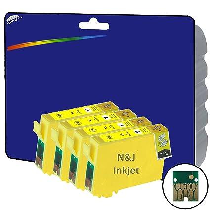 4 amarillo cartuchos de tinta XL no OEM Compatible para ...
