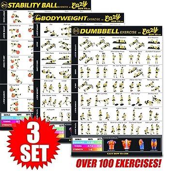 Eazy How To Póster Multi Pack de ejercicios BIG: 51 x 73 cm, duración