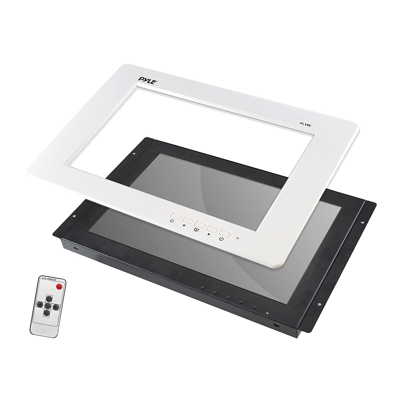 Pyle-Pro 9-Inch Video Monitor Panel Display Screen, White frame Sound Around PLVW92U