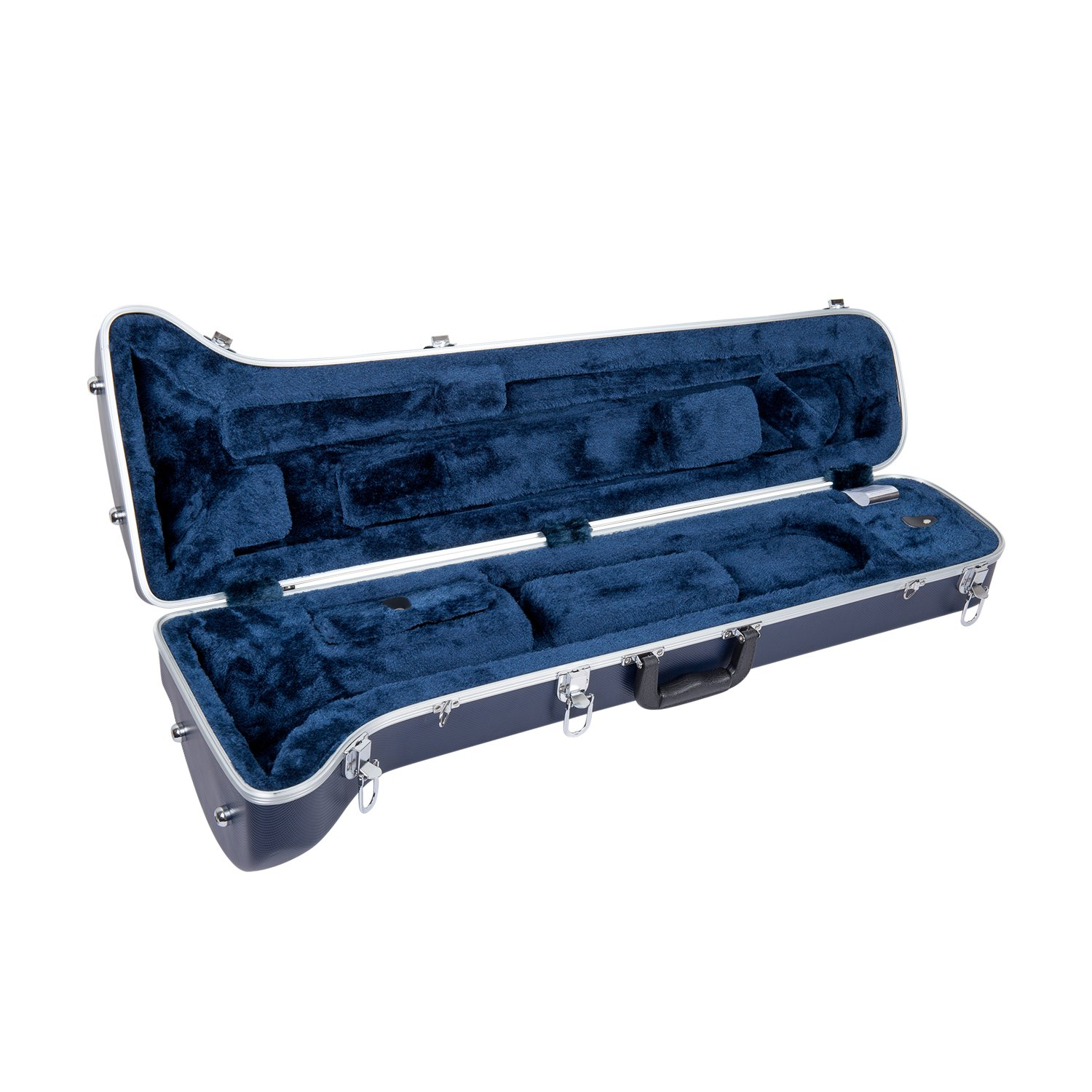Crossrock CRA860TRSL Trumpet Rectangular ABS Molded Hard Shell Case with Padded Strap Silver