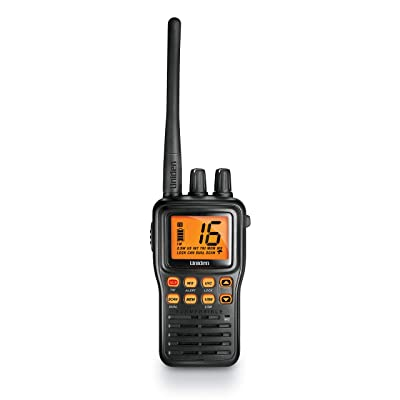 Uniden MHS75 Waterproof Handheld 2-Way VHF Marine radio, Submersible, Selectable 1/2.5/5 Watt Transmit Power. All USA/International and Canadian Marine Channels - Color Black: Home Audio & Theater
