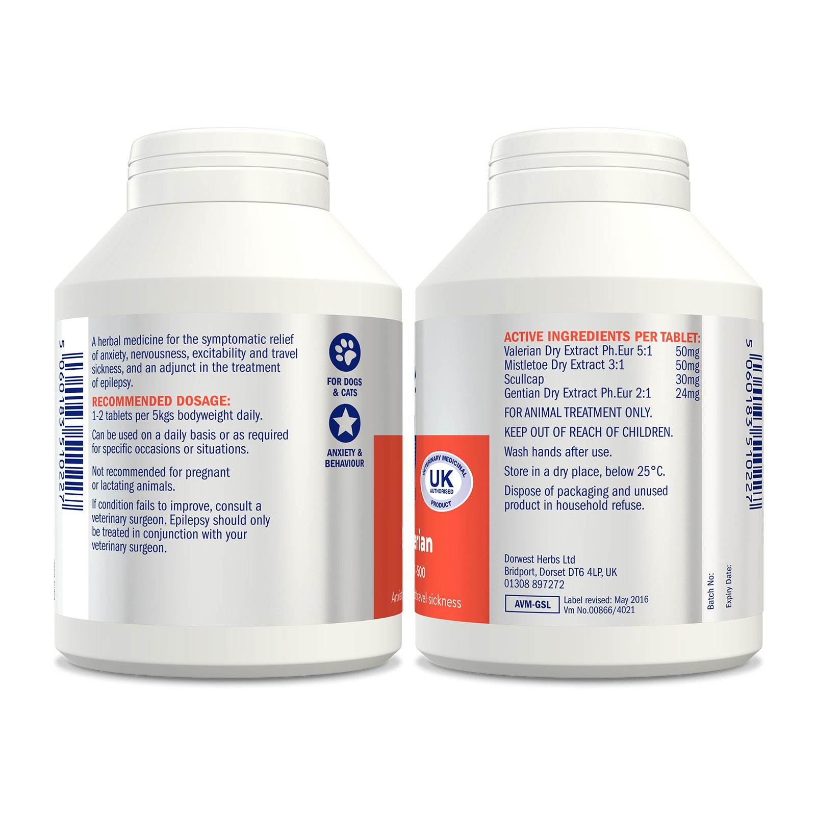 Dorwest Herbs Scullcap And Valerian Tablets For Dogs And Cats 500 Tablets by Dorwest Herbs (Image #6)