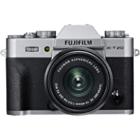 Fujifilm X-T20 Systemkamera (mit XC15-45mm Objektiv Kit, Touch LCD 7,6cm (2,99 Zoll) Display, 24,3 Megapixel APS-C X-Trans CMOS III Sensor) silber