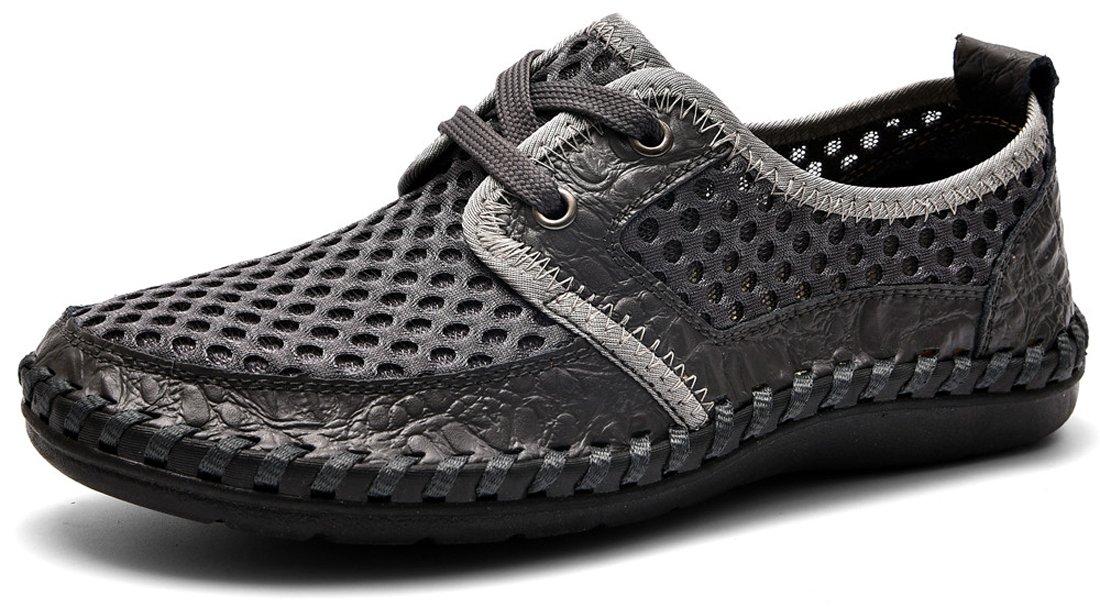 MOHEM Men's Poseidon Casual Water Shoes Mesh Walking Quick Drying Hiking Shoes(MH1687923Gray42)