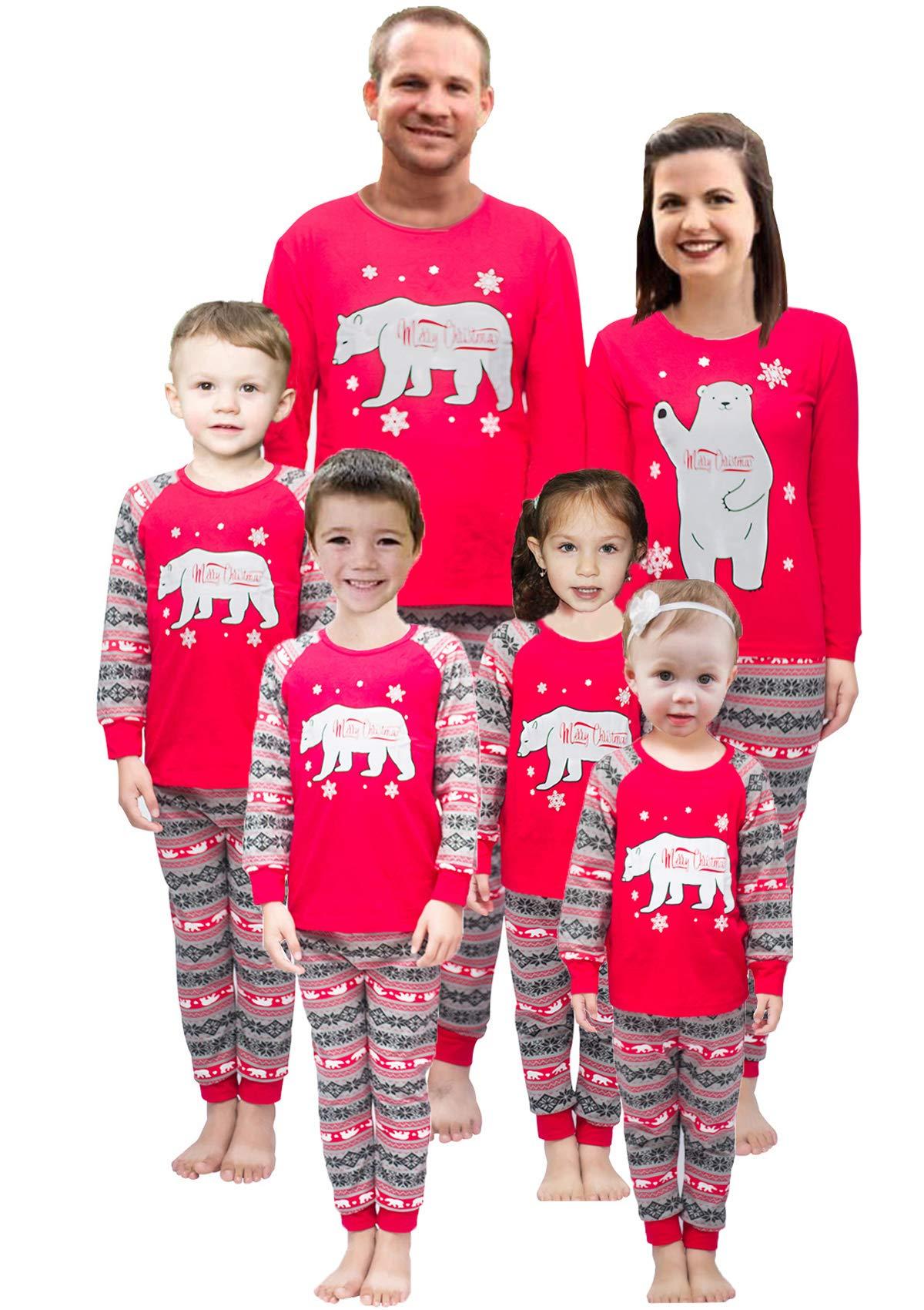 Little Pajamas Holiday Family Matching Fleece Bear Plaid Pajama PJ Sets  Women XL 9da5f4d01