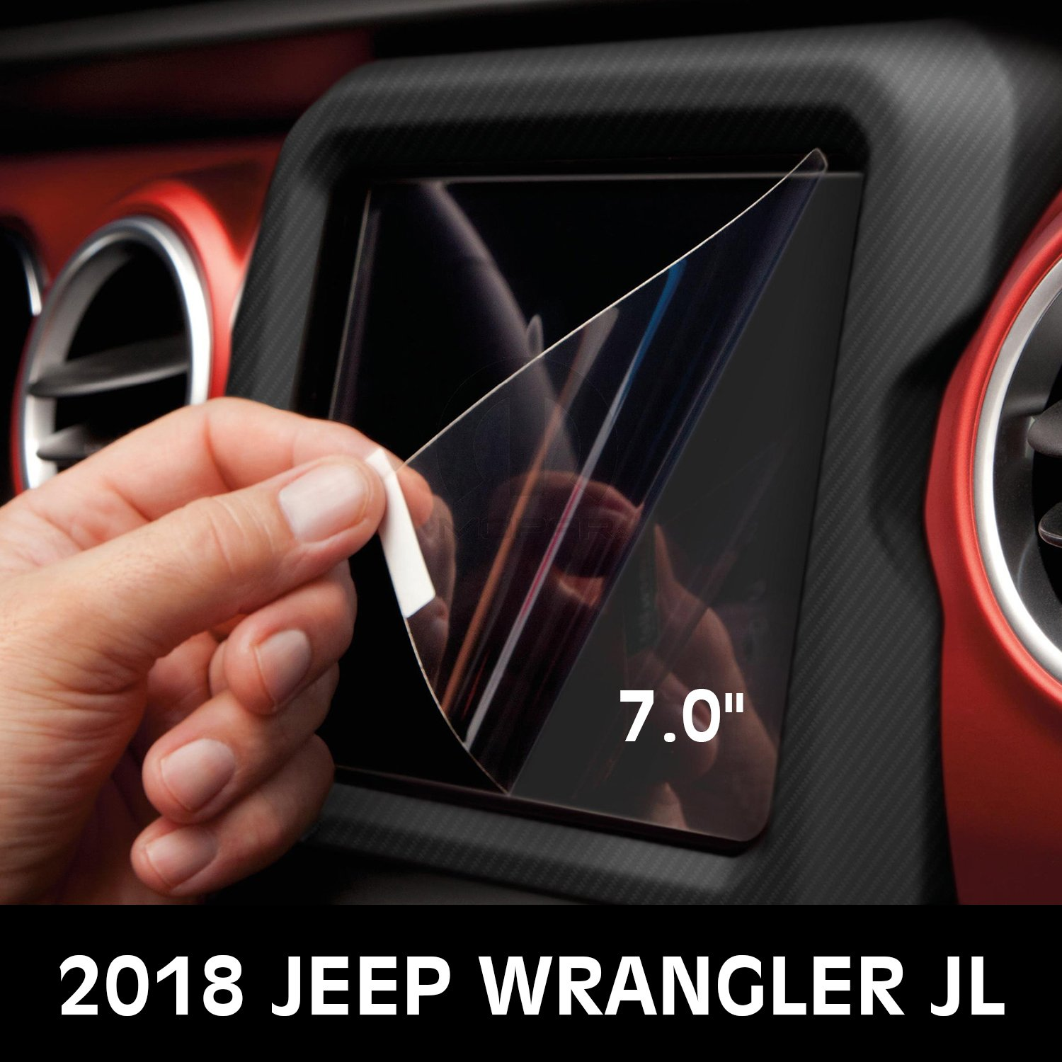 IBACP 7.0 inch Media Center Screen Uconnect Car Navigation Screen Protector 2018 Jeep Wrangler JL