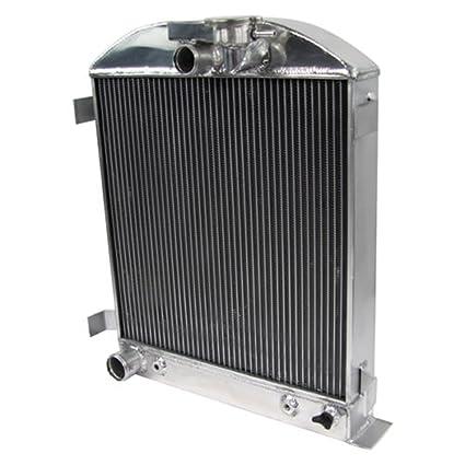 ALLOYWORKS 4 Row Aluminum Radiator For 1932 Ford HI-BOY Hot Rod Chevy V8  Engine