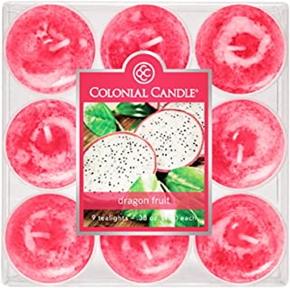 product image for Colonial Candle Dragon Fruit Tealights, Set of 9