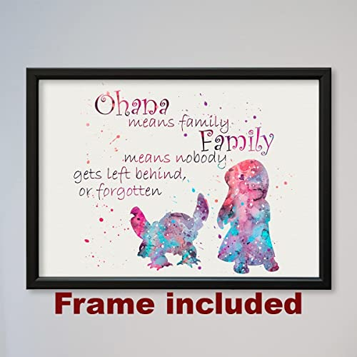 Amazoncom Lilo And Stitch Quote Framed Poster Handmade