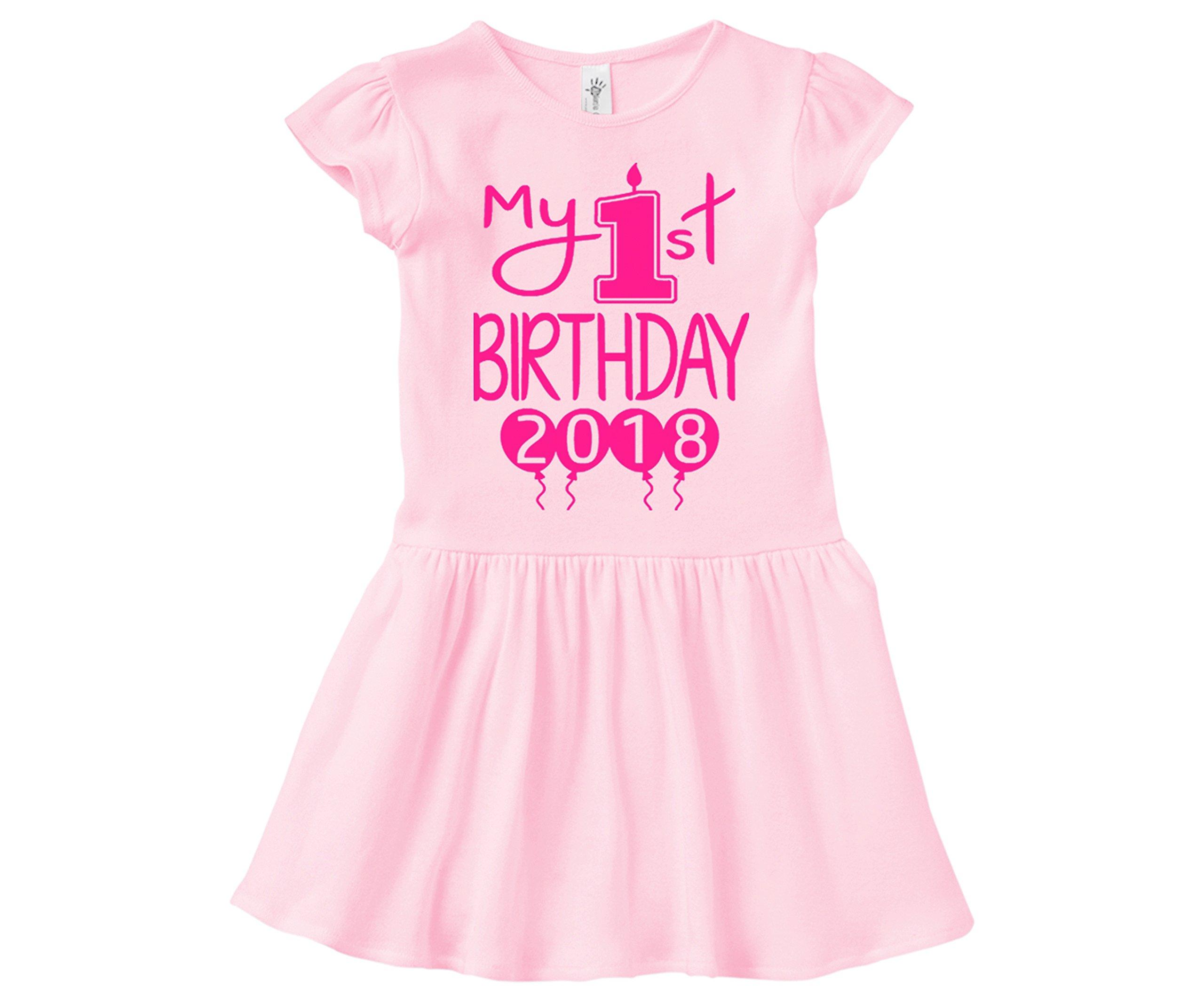 Aiden's Corner Baby Girl First Birthday Dress - My First Birthday 2018 Dress (18 Months, Pink Pink)