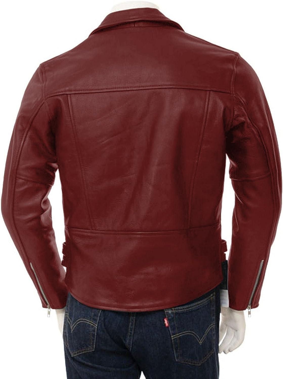 1510104 Lasumisura Mens Black Genuine Lambskin Leather Jacket