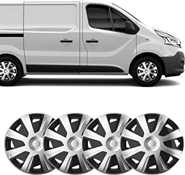 UKB4C Set of 4 15 Inch Extra Deep Dish Van Wheel Trims Hub Caps Universal