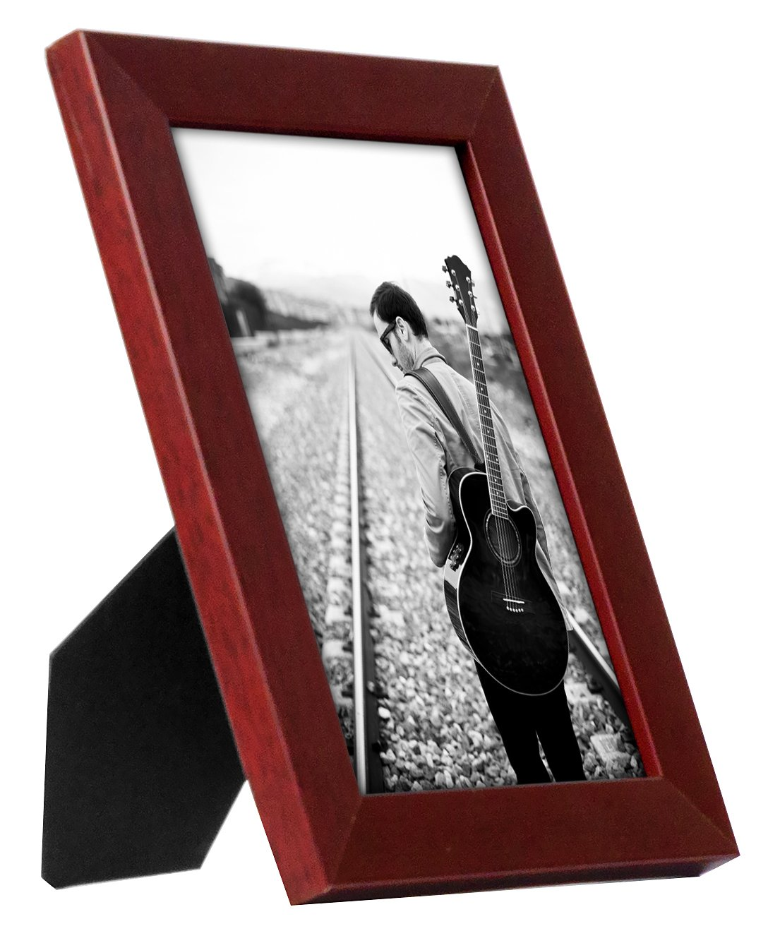 Americanflat 5x7 Mahogany Picture Frame - Easel Stand - Tabletop Display - Wall Display -  - picture-frames, bedroom-decor, bedroom - 71D1VwyKiXL -