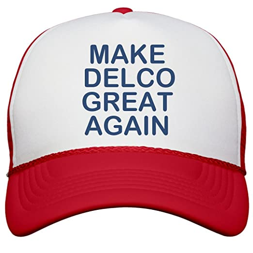 05c2b34498d Amazon.com  FUNNYSHIRTS.ORG Make Delco Great Again  Snapback Trucker ...