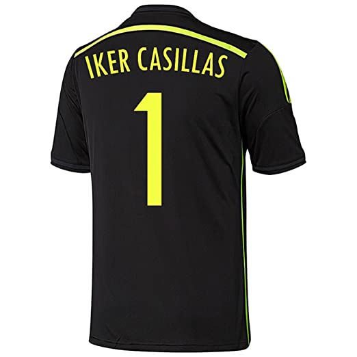 Adidas CASILLAS  1 Spain Away Jersey World Cup 2014 YOUTH. (YOUTH SMALL) 43d18e123