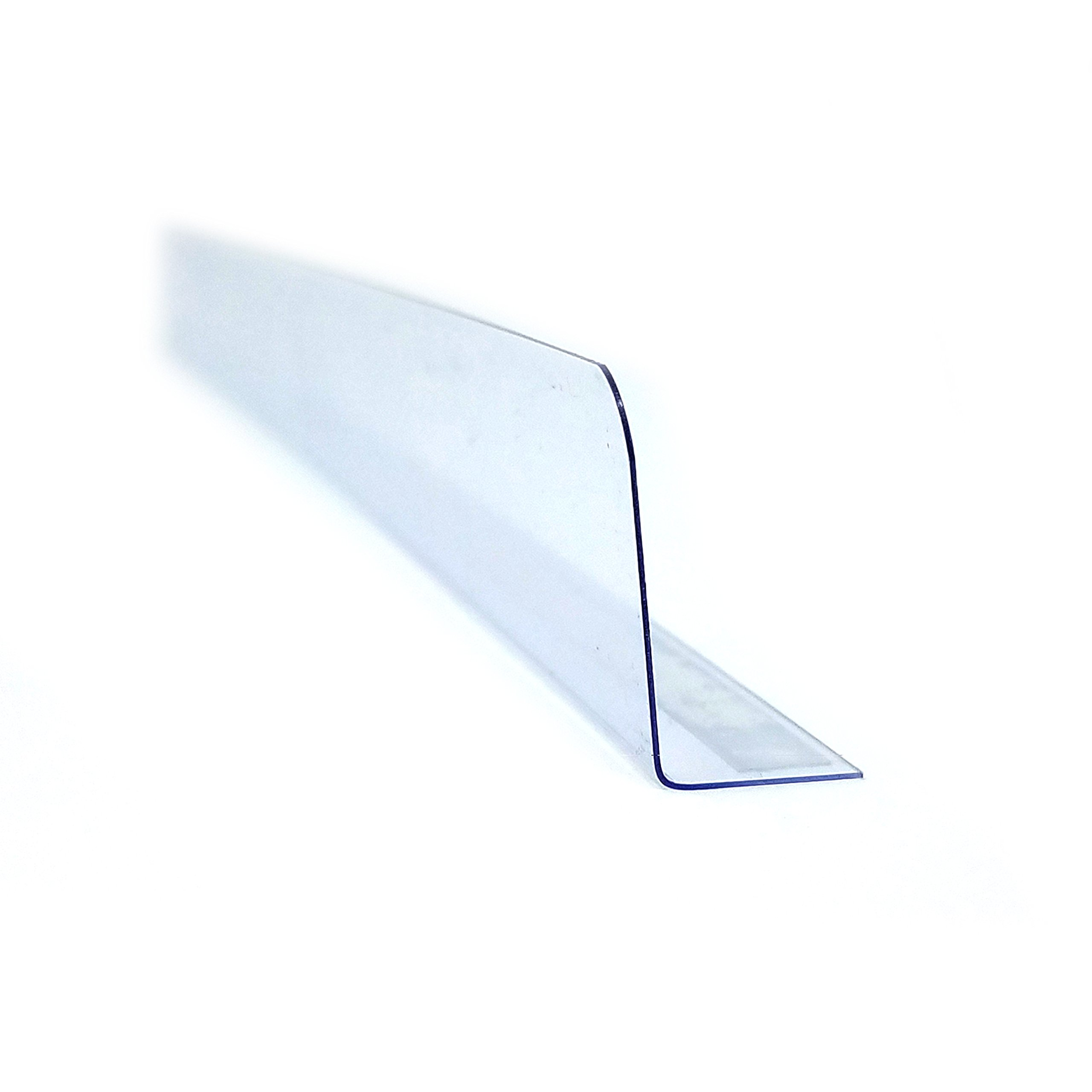 Stick On Gondola, Wood or Glass Shelf Dividers with Self Adhesive Tape - 1'' H X 12'' L - 50 Pack