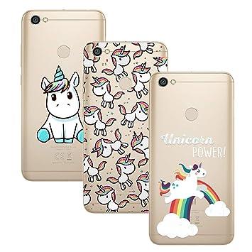 Young & Ming Xiaomi Redmi Note 5A Prime Funda, [3 Pack] Carcasa Transparente Slilicona Suave TPU Gel Enjaca Perfecta para Xiaomi Redmi Note 5A Prime, ...