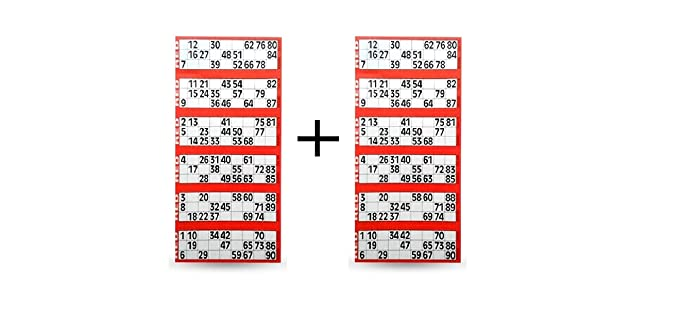 Tefarah Decor TAMBOLA Tickets Set for Ladies Kitty/Picnic/Festival (RED Color) 1200 Tickets