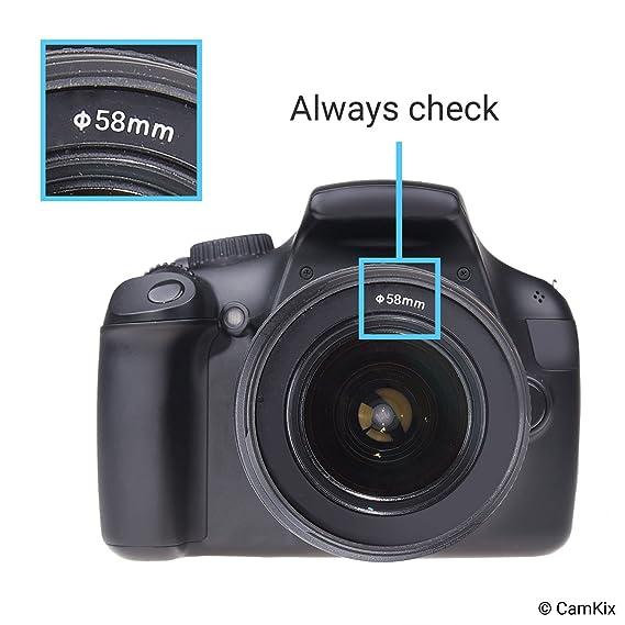 Capucha de Lente para cámara - 58mm - Caucho: Amazon.es: Electrónica