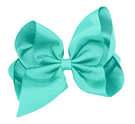 """WD2U Girls Set of Two 4/"""" by 3/"""" GrosGrain Boutique Hair Bows Alligator Clips USA"""