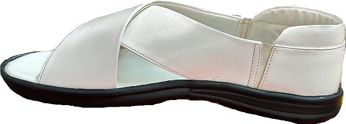 Allen Looper White Cross Sandal for Men