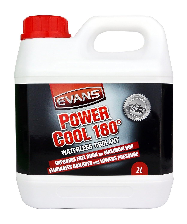 Refrigerante para motores Power Cool 180° de Evans, para coches de carreras y de alto rendimiento, 2 litros