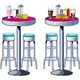 Soda Shop Tables & Stools Props Party Accessory (1 count) (2/Pkg)