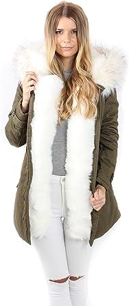 Freshlions Parka en Fourrure pour Femme – Manteau Chaud pour