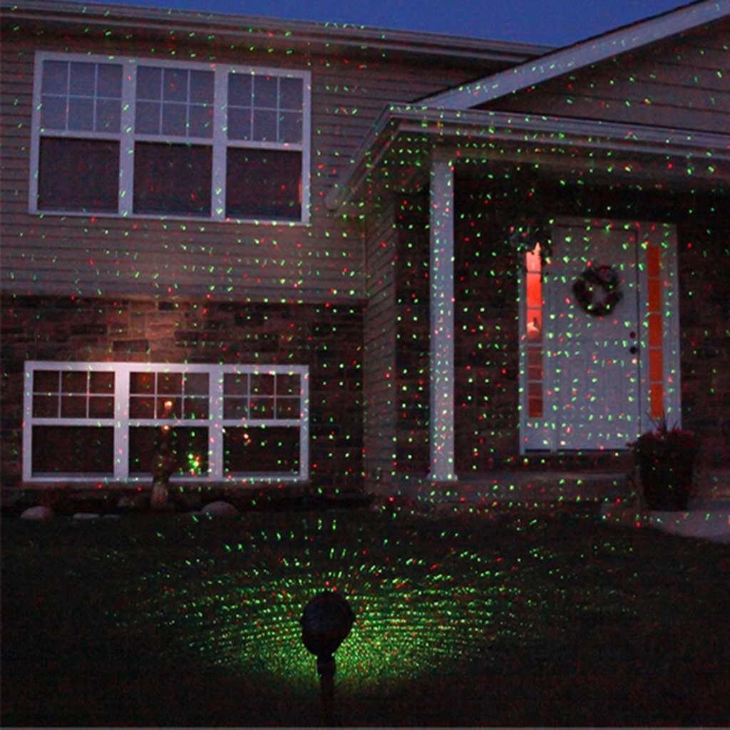 Floureon 130mW Laser Projector Outdoor Red and Green-IP65 ...