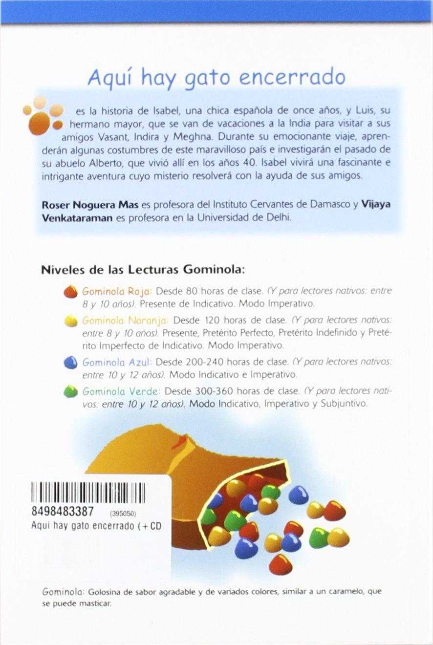 Aquí hay gato encerrado Book + CD (Spanish Edition): Roser Noguera Mas, Vijaya Venkataraman, Pedro Tena Tena: 9788498483383: Amazon.com: Books