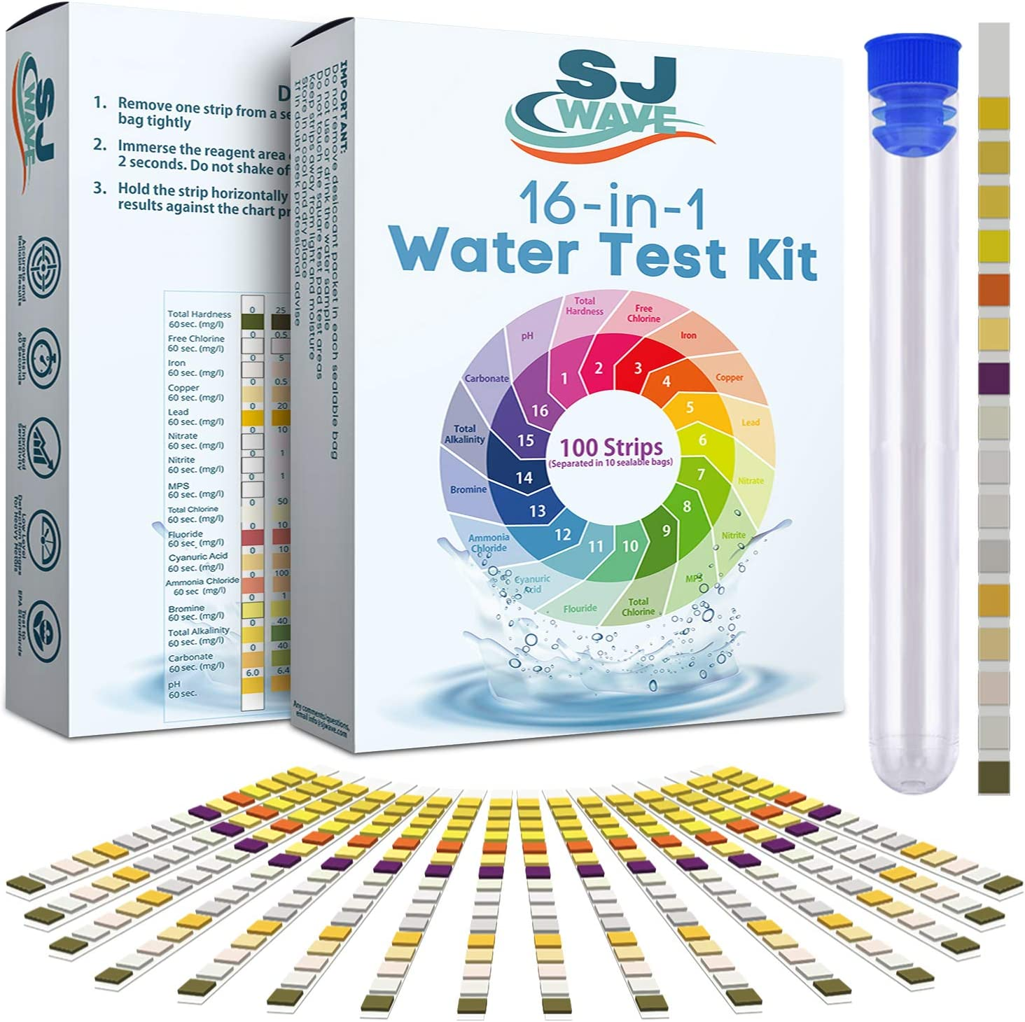 Pool water test-Best for Variety of Tests: 16-in one drinking water test kit