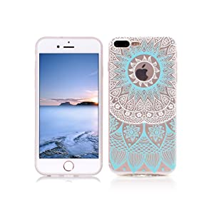 iPhone 7 PLUS Case Soft TPU Rubber Cover OuDu Silicone Case Transparent Flexible Slim Case Smooth Lightweight Skin Ultra Thin Shell Creative Design Cover - Wind Chimes