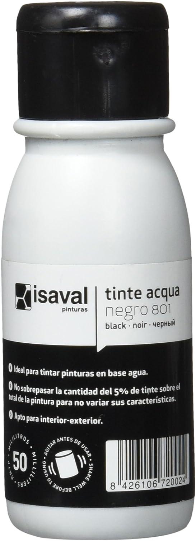 Isaval 101139/801 - Tinte al agua de 50 ml. negro: Amazon.es ...