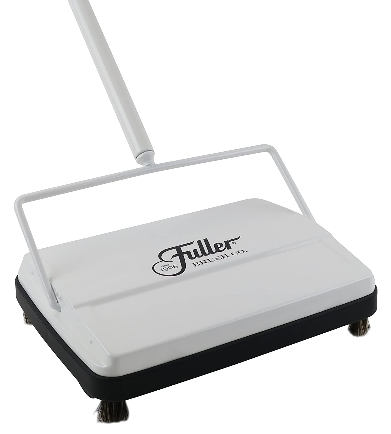 "Fuller Brush Electrostatic Carpet & Floor Sweeper - 9"" Cleaning Path - Bright White"