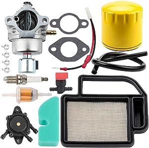 Dalom 20 853 33-S Carburetor 20 083 02-S Air Filter 52 050 02-S Oil Filter for Kohler Courage SV470 SV480 SV530 SV540 SV590 SV600 SV610 SV620 Engines Toro Lawn Mower
