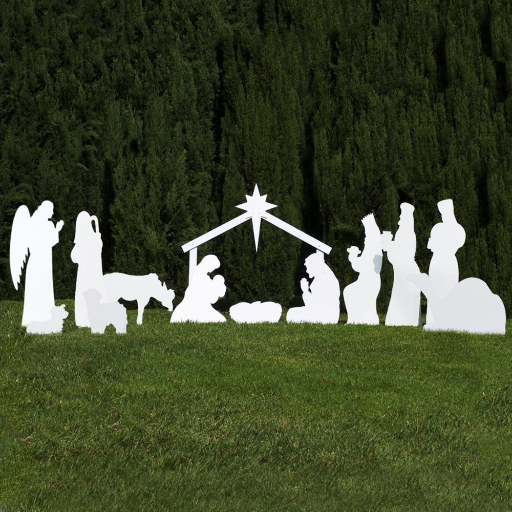 Outdoor Nativity Store Complete Outdoor Nativity Set (Standard, White) by Outdoor Nativity Store