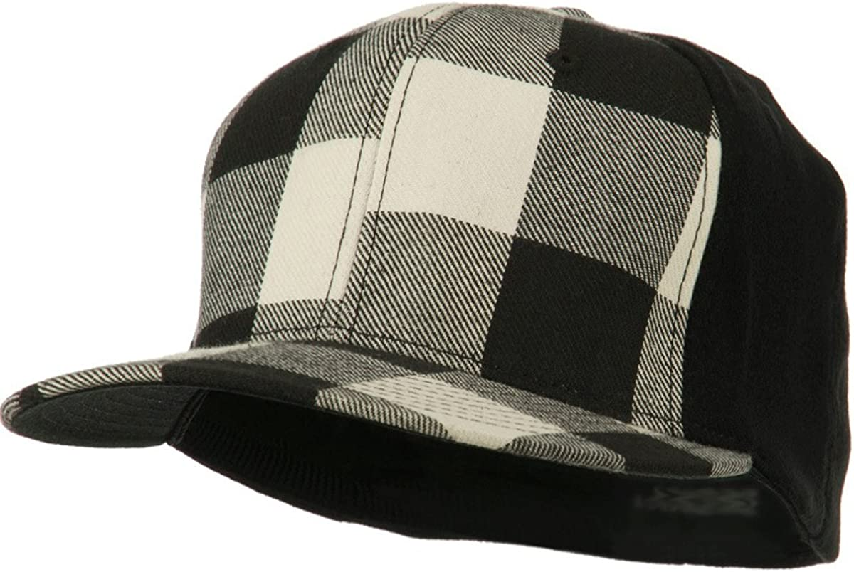 Plaid Newsboy Hat Man Lumberjack Plaid Flat Cap Hat Gift race car hat Birthday Boy Buffalo Plaid Hat Whit and Black Checkered Flat Cap