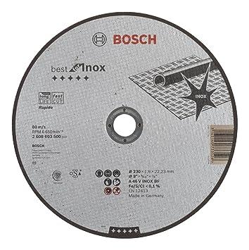 Rapido A 46 V BF 230 mm 22,23 mm Bosch Trennscheibe gekröpft Best for Metal