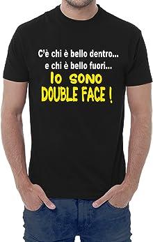 Fermento Italia T-shirt uomo divertente IO SONO DOUBLE FACE - maglietta umoristica 100% cotone JHK