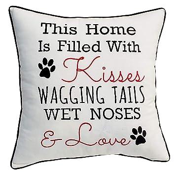 Amazon.com: YugTex fundas de almohada bordadas para amante ...