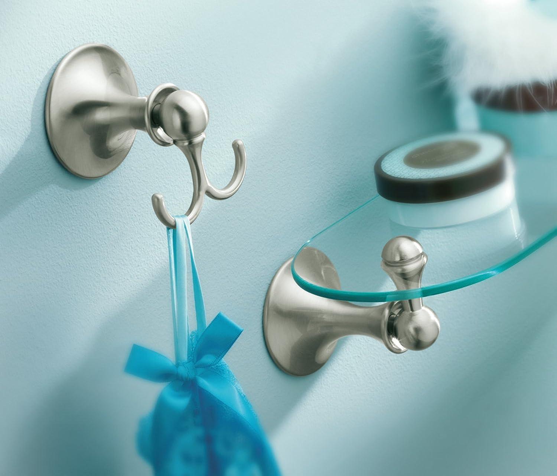 Amazon.com: Moen DN7790BN Lounge Bathroom Vanity Shelf, Brushed ...