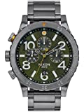 Gunmetal Grey/Green Oxyde The 48-20 Chrono Watch by Nixon