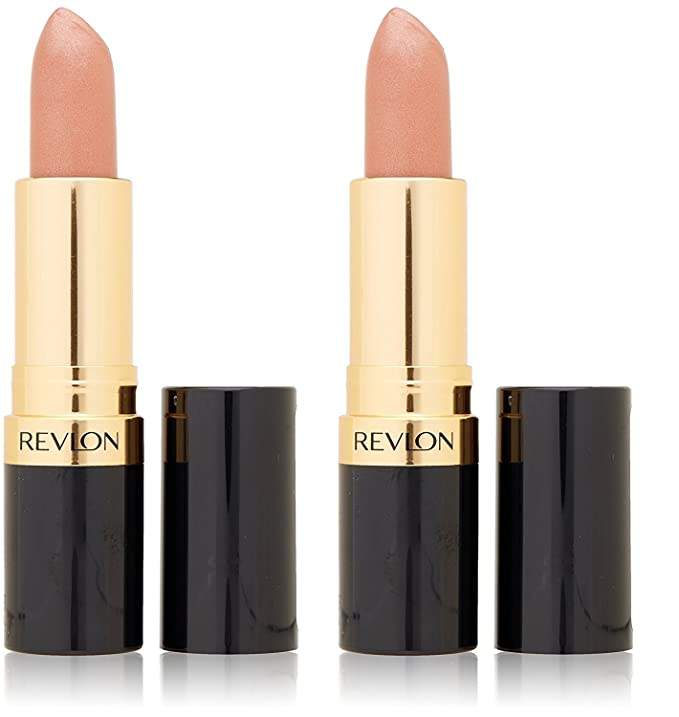 c2e76c3a267 Revlon Super Lustrous Lipstick Pearl, Champagne On Ice 205, 0.15 Ounce  (Pack of